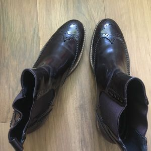 Zara burgundy leather boots